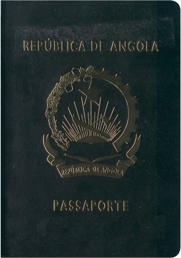A regular or ordinary Angola passport - Front side