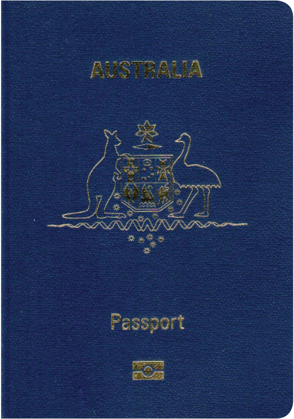 A regular or ordinary Australian passport - Front side
