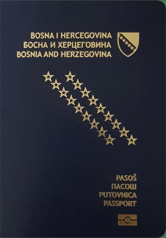 A regular or ordinary Bosnian passport - Front side