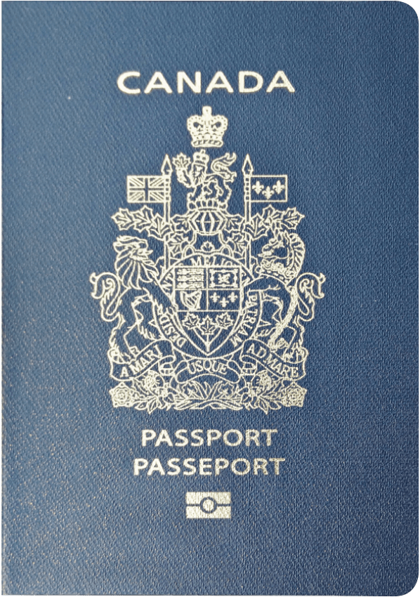 A regular or ordinary Canadian passport - Front side