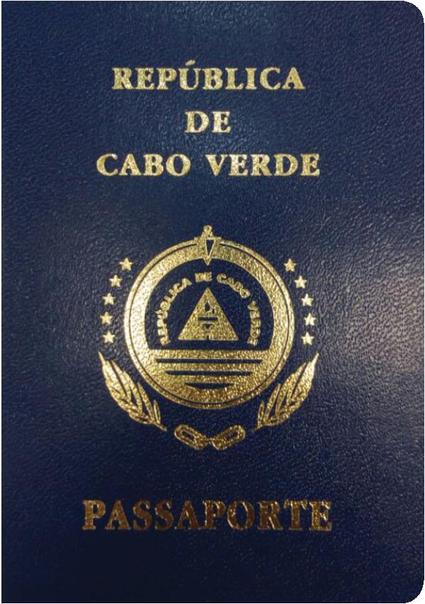 A regular or ordinary Cape Verde passport - Front side