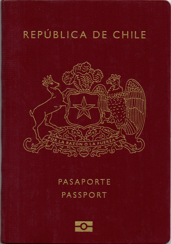 A regular or ordinary Chilean passport - Front side