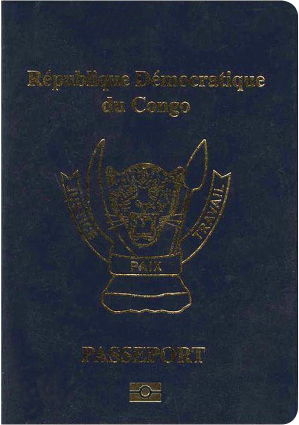 A regular or ordinary congo, democratic republic of the passport - Front side