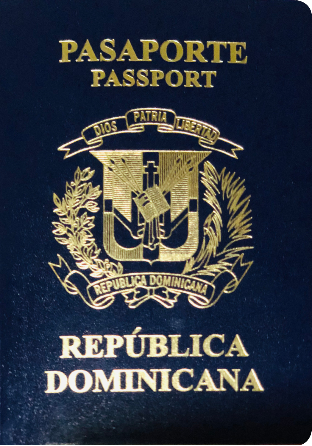 A regular or ordinary Dominican Republic passport - Front side