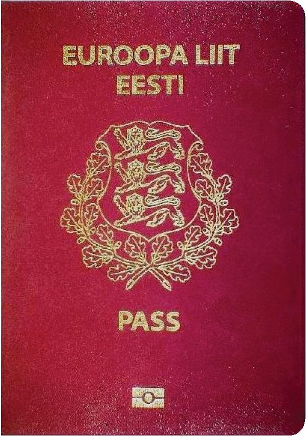 A regular or ordinary Estonian passport - Front side