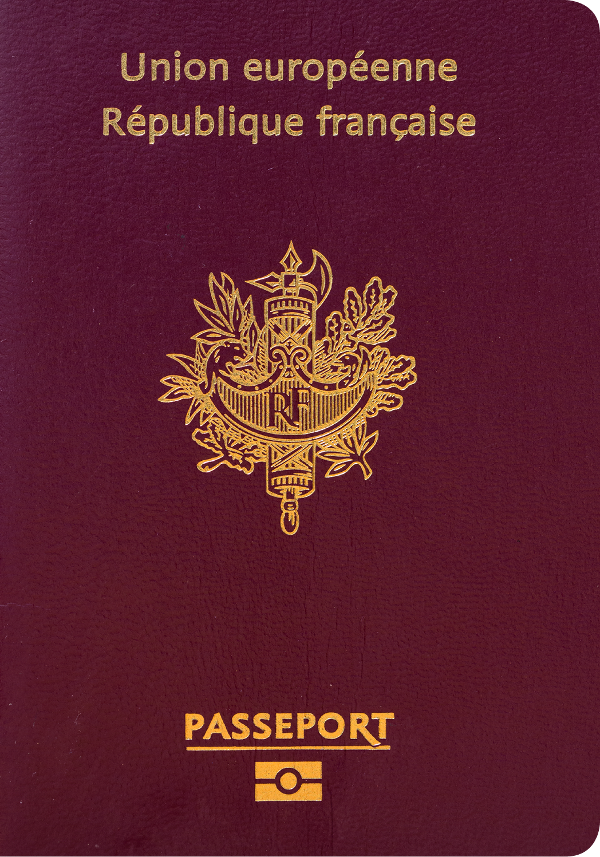 A regular or ordinary france passport - Front side