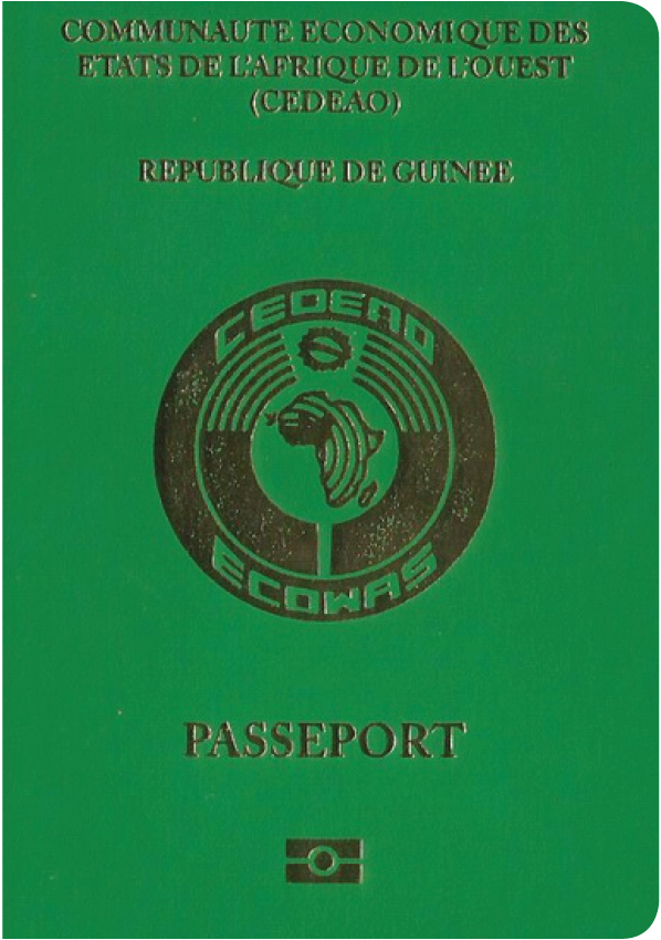 A regular or ordinary guinea passport - Front side