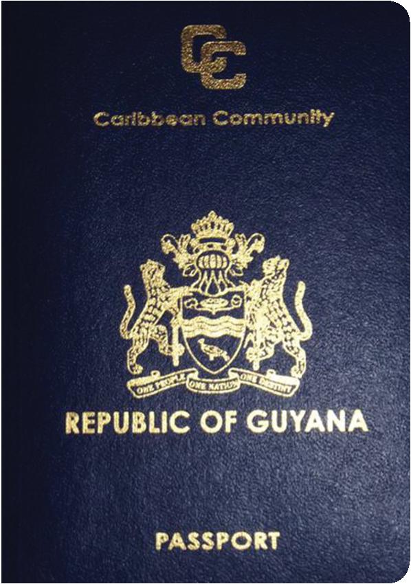 A regular or ordinary Guyanese passport - Front side