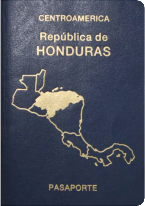 A regular or ordinary Honduran passport - Front side