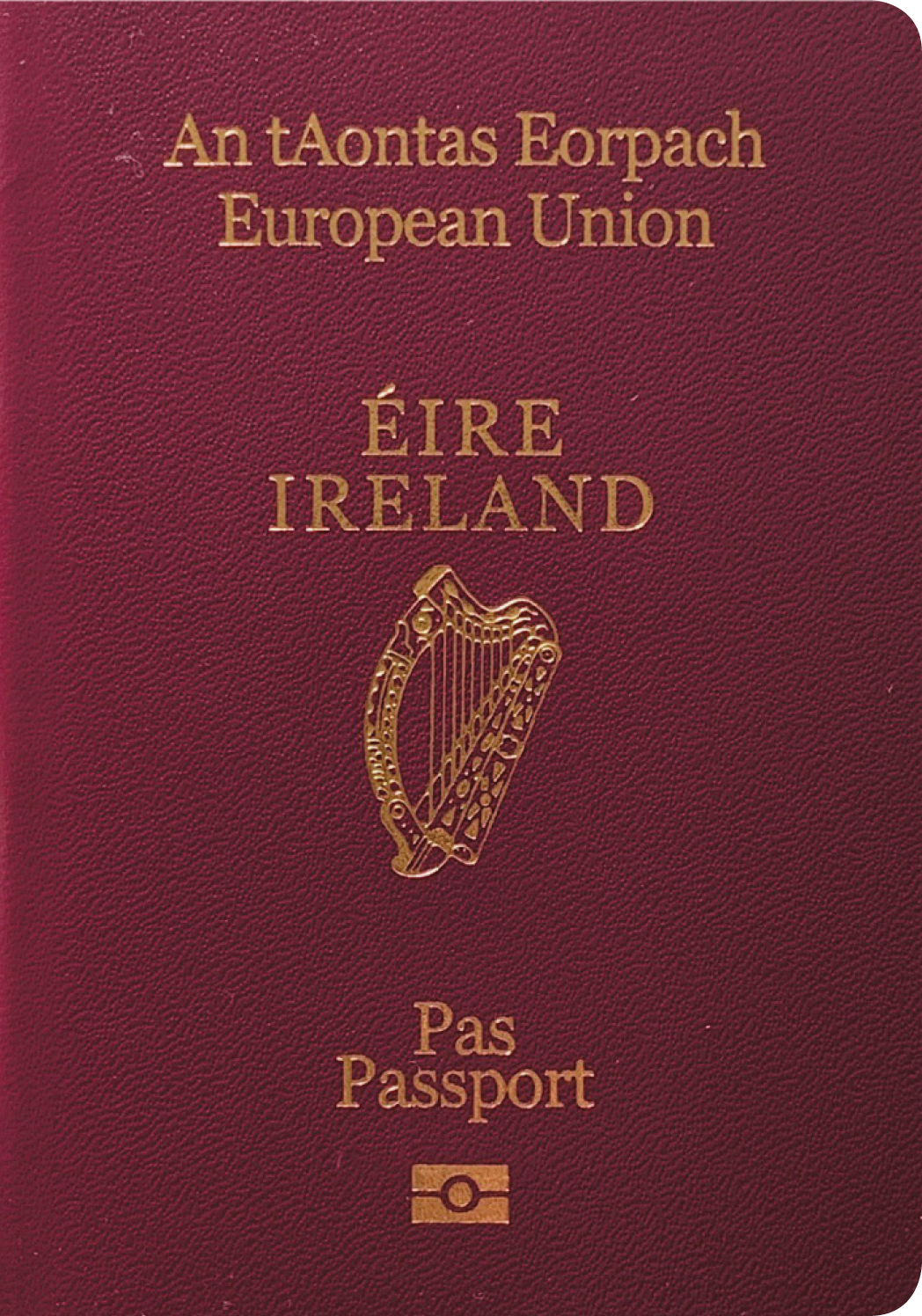 A regular or ordinary ireland passport - Front side
