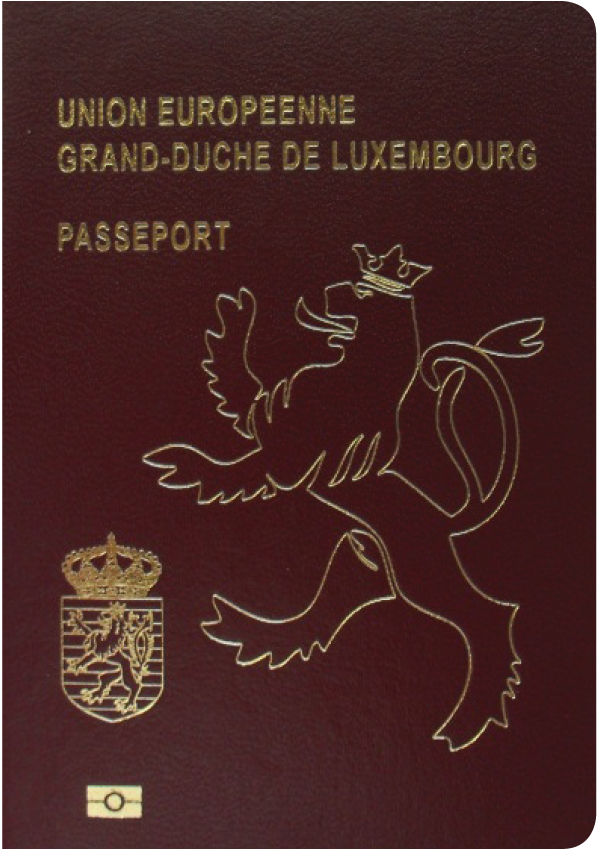 A regular or ordinary Luxembourg passport - Front side