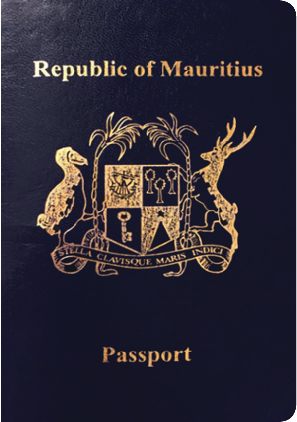 A regular or ordinary Mauritius passport - Front side