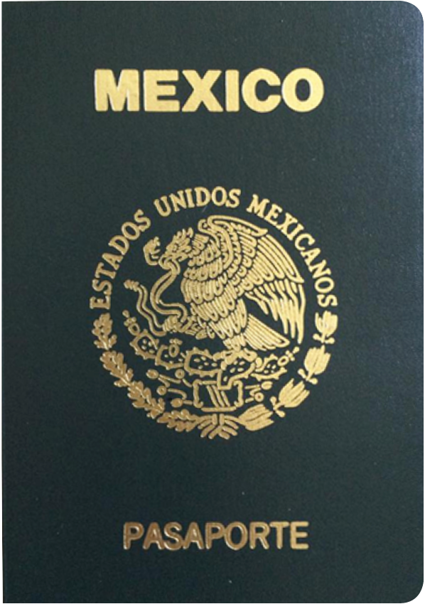 A regular or ordinary Mexican passport - Front side