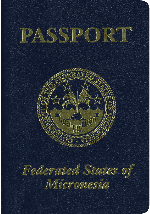 A regular or ordinary Micronesian passport - Front side
