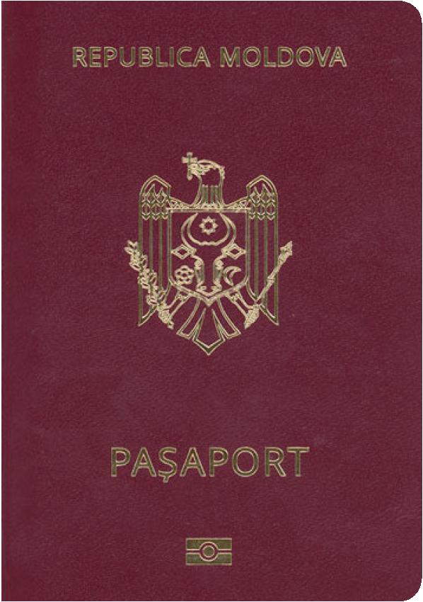 A regular or ordinary Moldovan passport - Front side