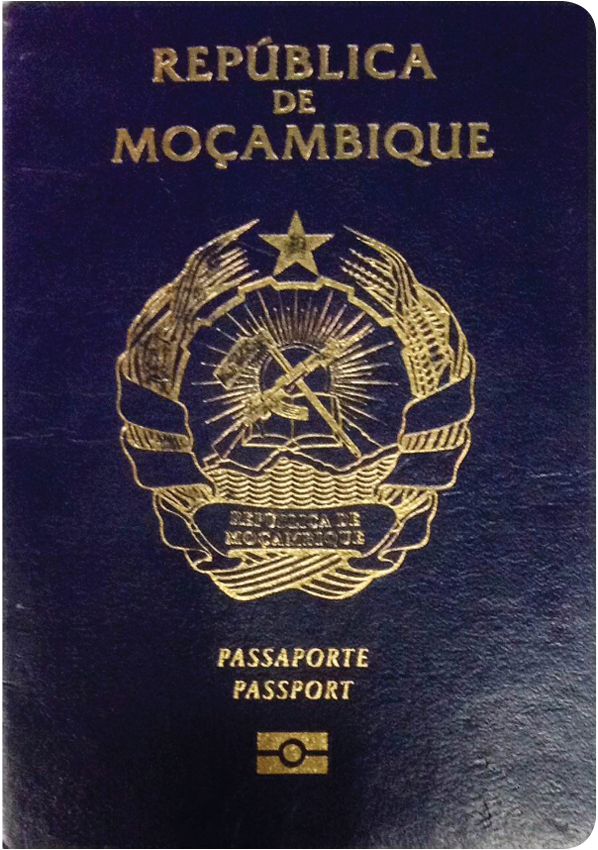 A regular or ordinary Mozambique passport - Front side