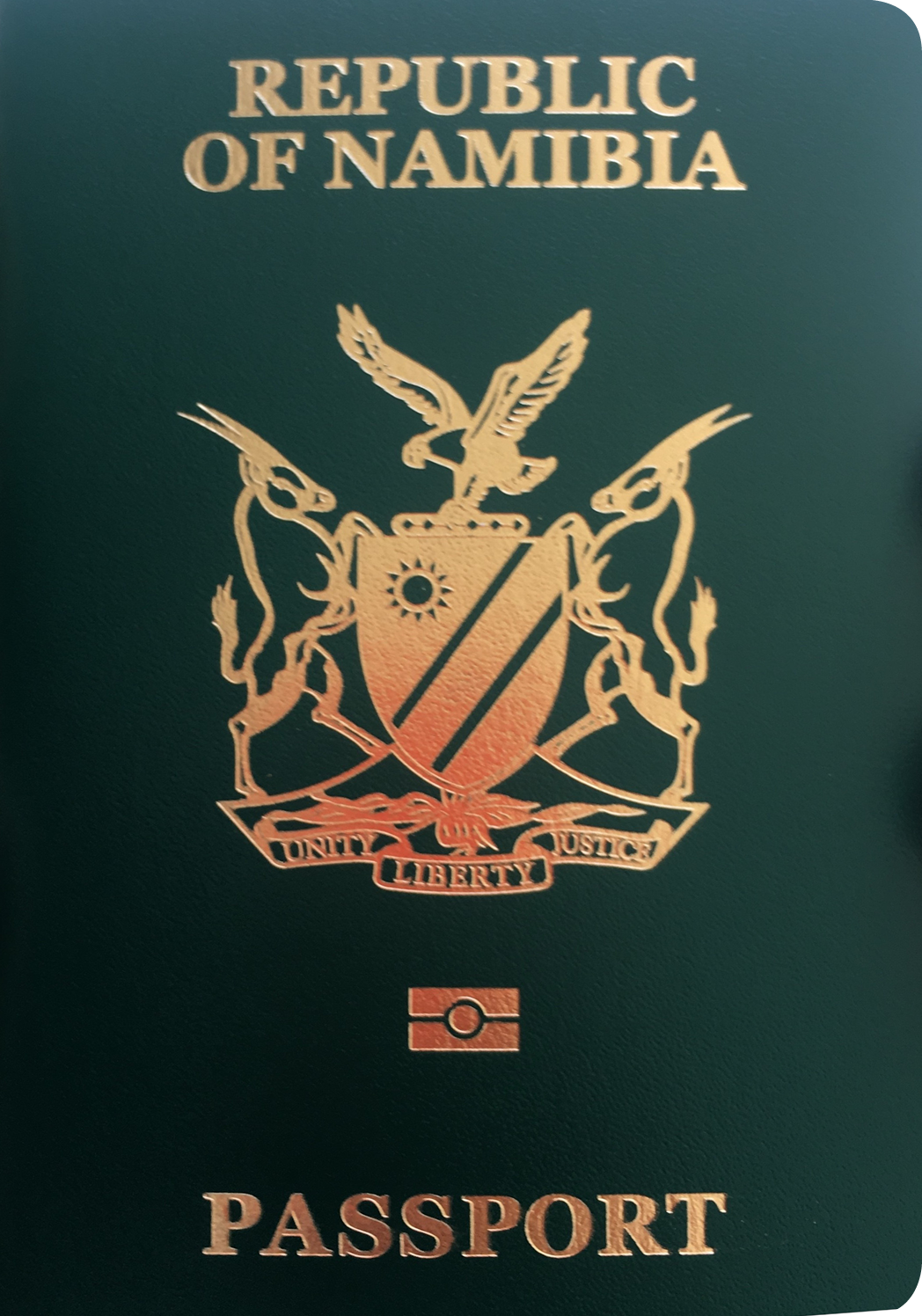 A regular or ordinary Namibian passport - Front side