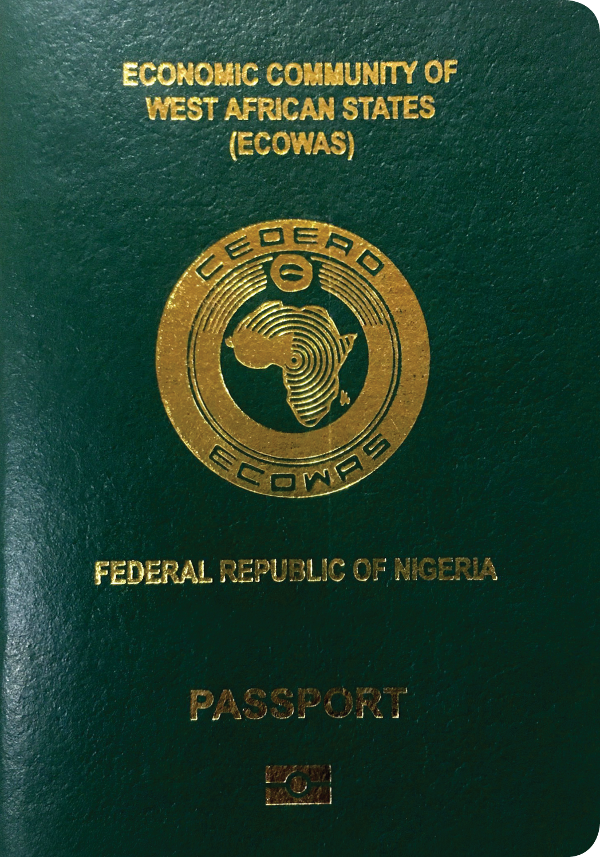 A regular or ordinary Nigerian passport - Front side