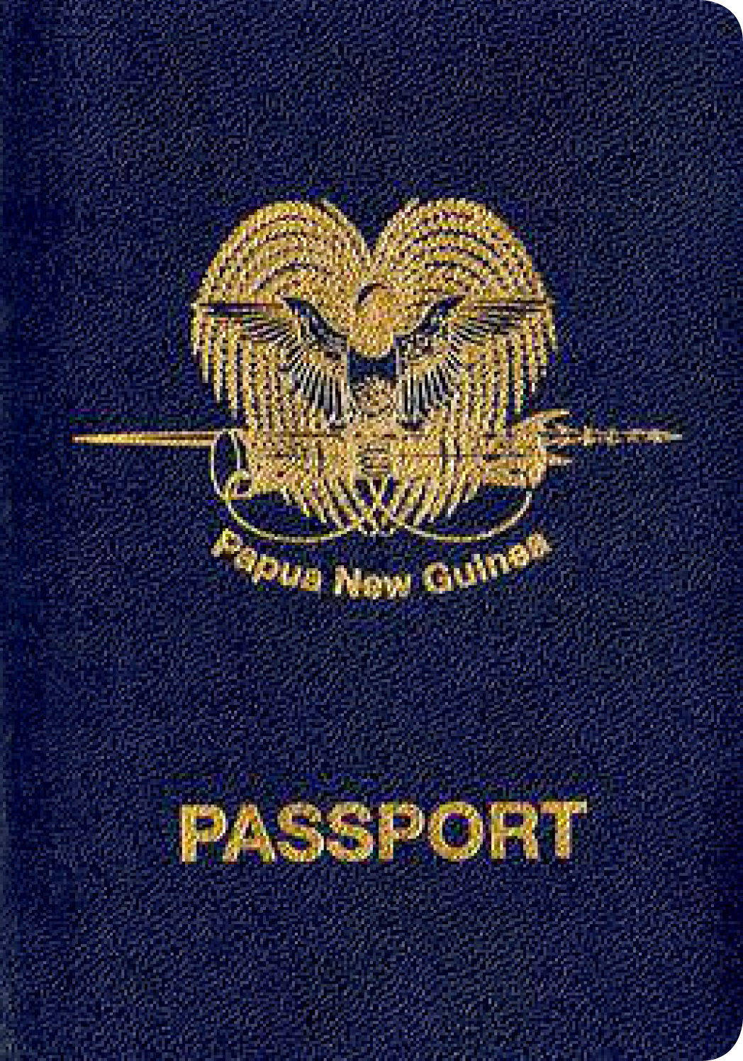A regular or ordinary Papua New Guinea passport - Front side