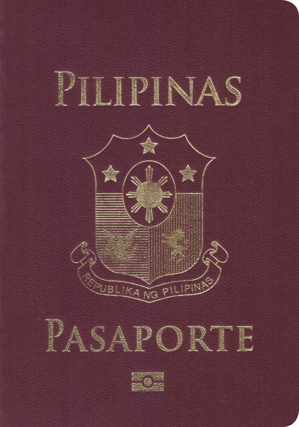 A regular or ordinary Philippine passport - Front side