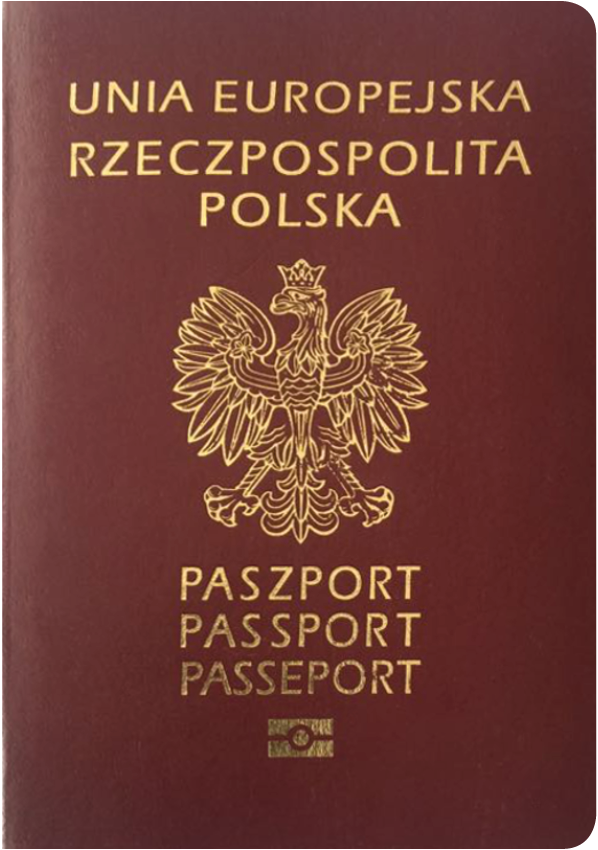 A regular or ordinary poland passport - Front side
