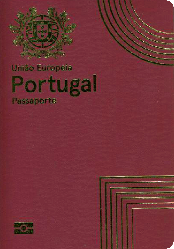 A regular or ordinary Portuguese passport - Front side