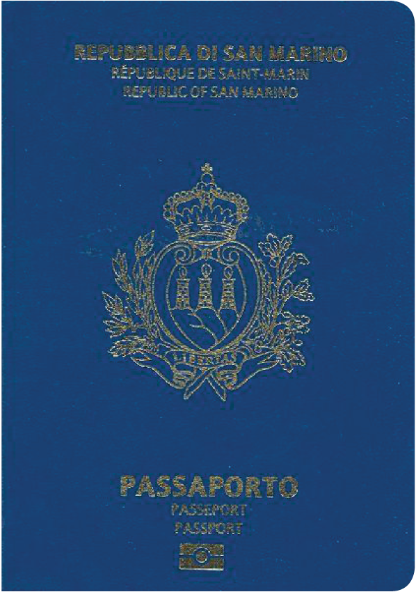 A regular or ordinary San Marino passport - Front side
