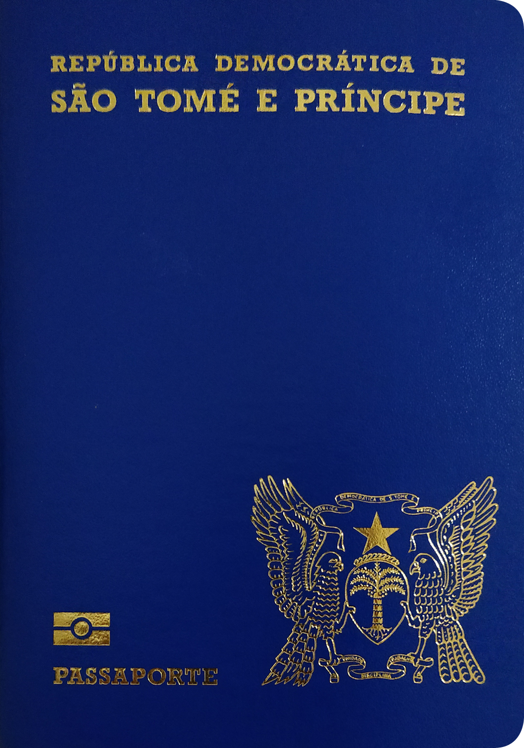 A regular or ordinary sao tome and principe passport - Front side