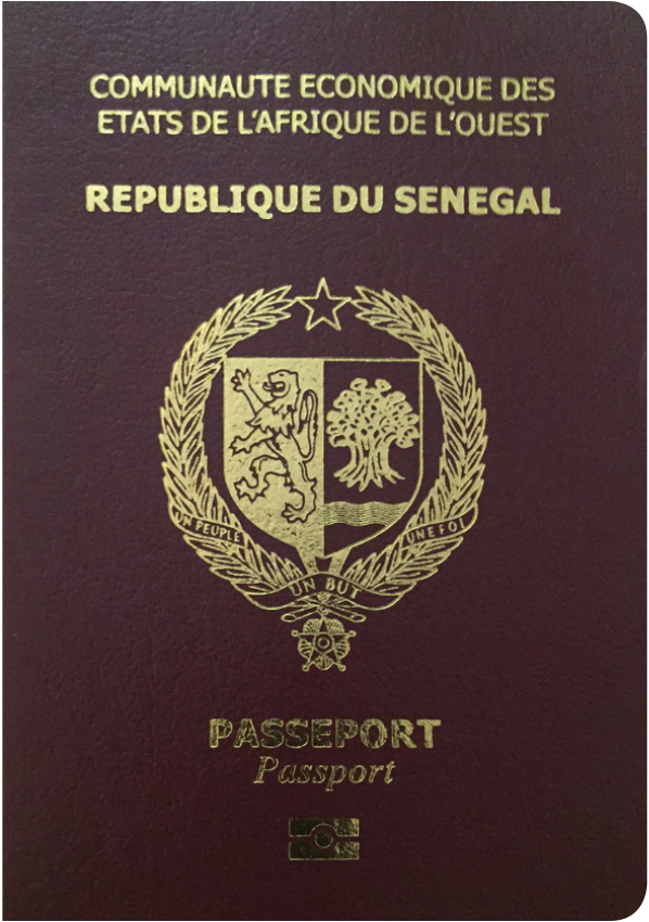 A regular or ordinary Senegalese passport - Front side