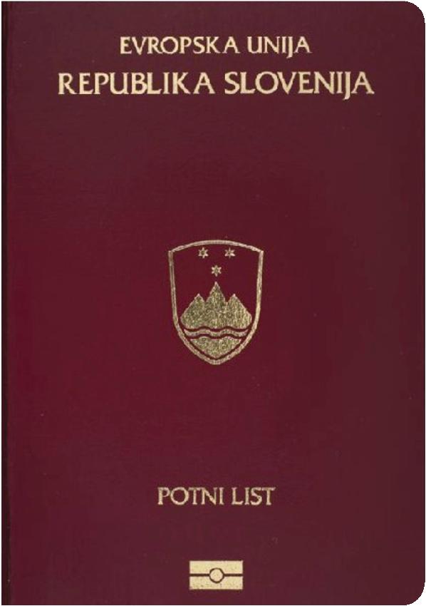 A regular or ordinary Slovenian passport - Front side