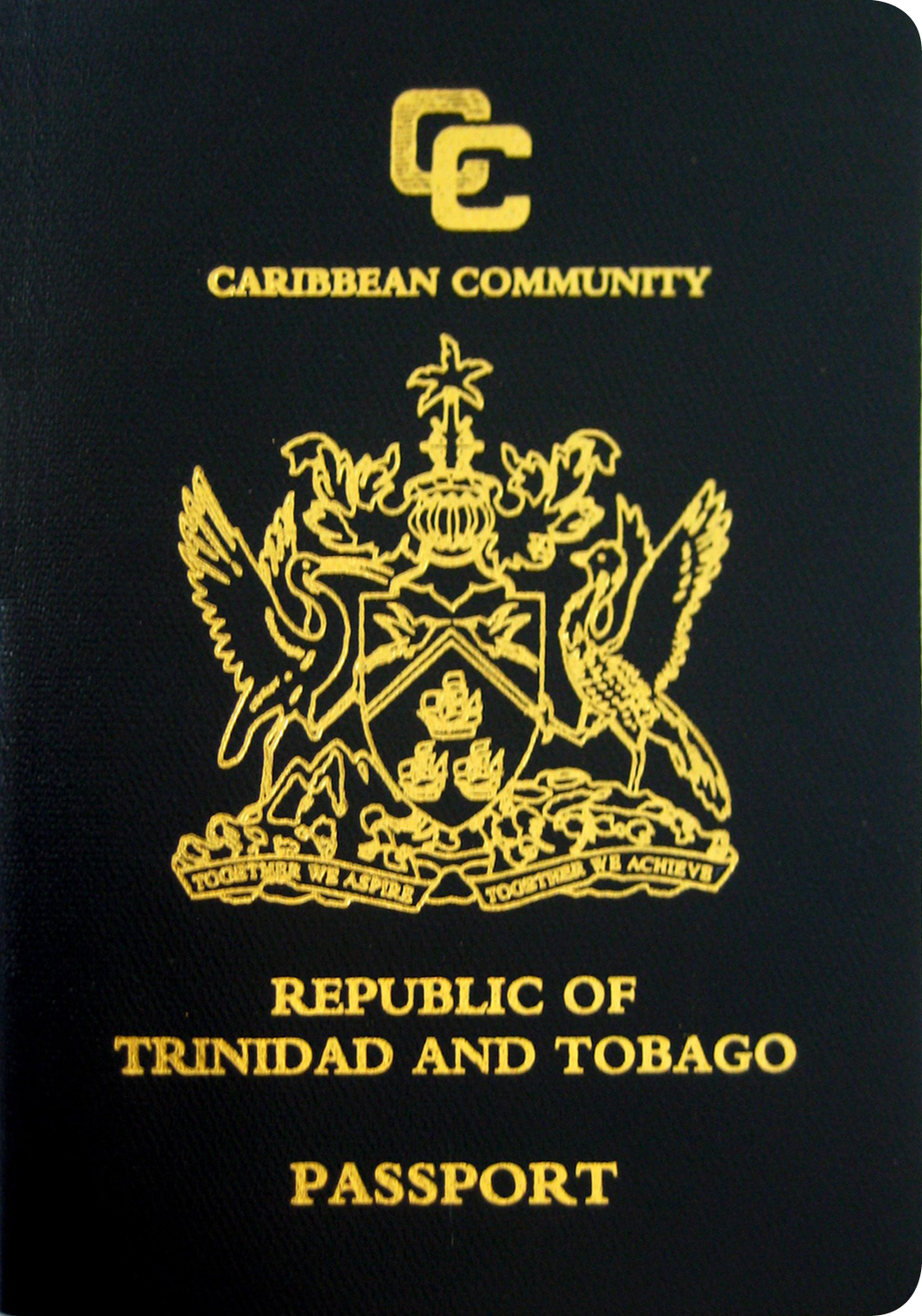 A regular or ordinary trinidad and tobago passport - Front side