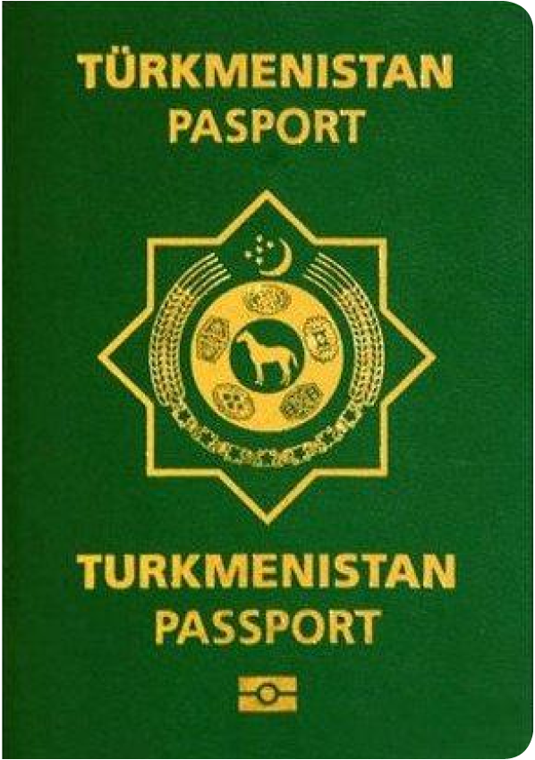 A regular or ordinary Turkmenistan passport - Front side