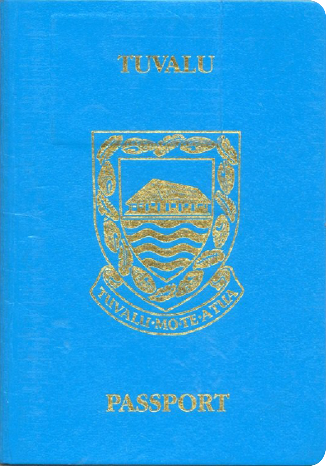 A regular or ordinary tuvalu passport - Front side