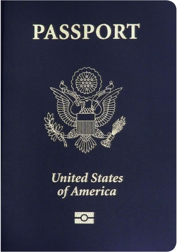 A regular or ordinary united states of america passport - Front side