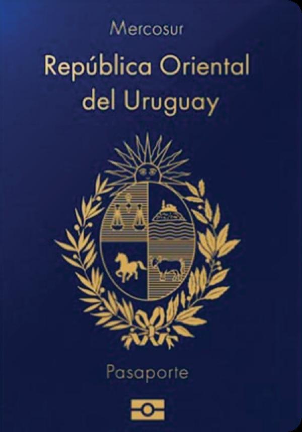 A regular or ordinary Uruguayan passport - Front side
