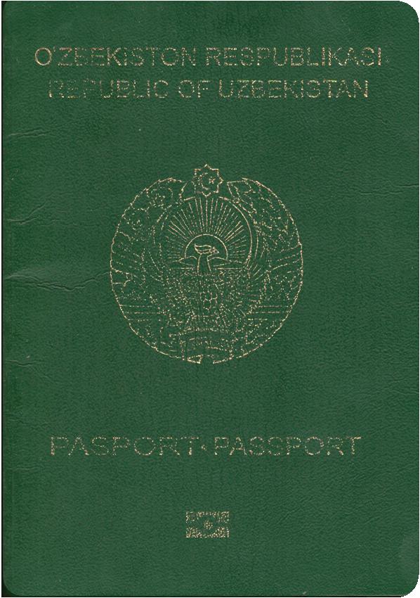 A regular or ordinary uzbekistan passport - Front side