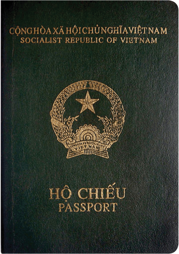A regular or ordinary vietnam passport - Front side