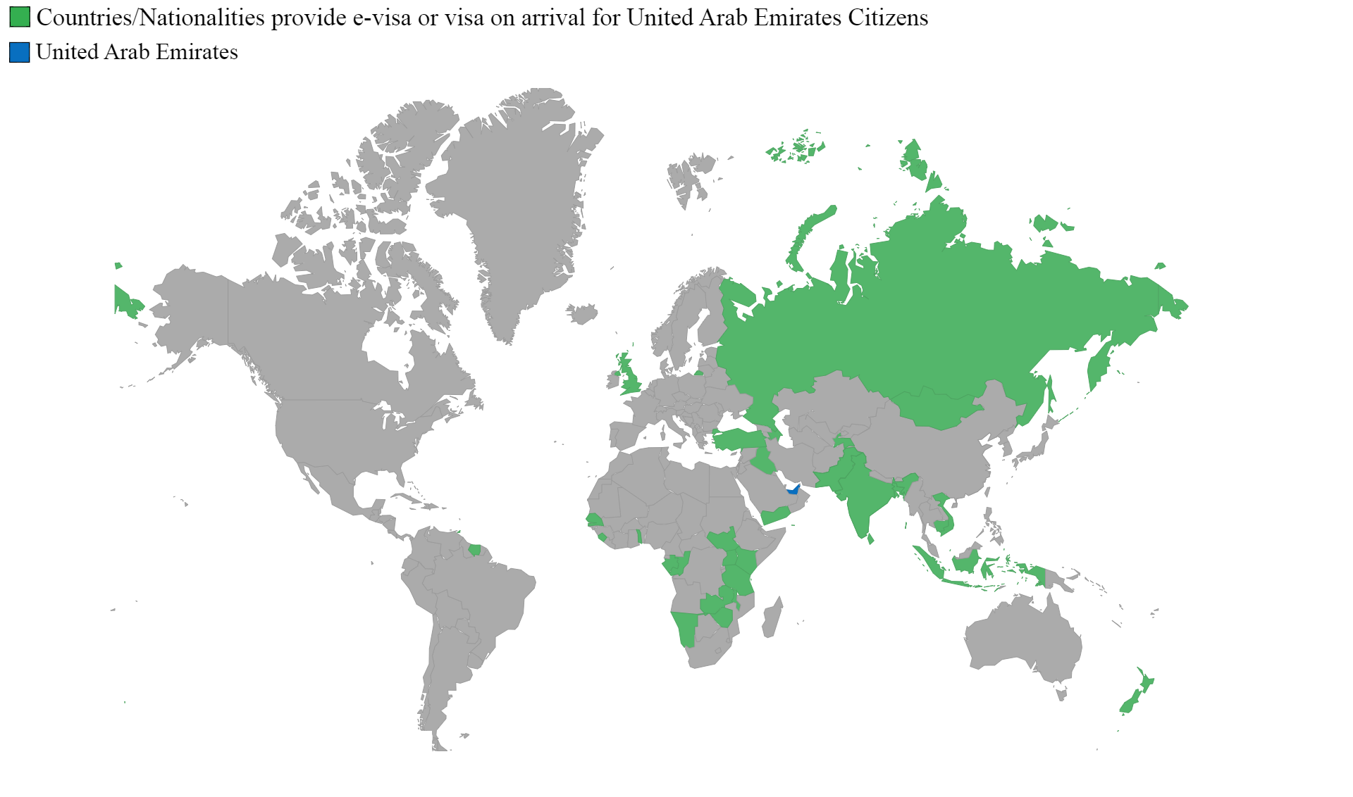 Countries can visit with e-visa or eTA